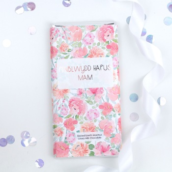 Penblwydd Hapus Mam - Floral Milk Chocolate Bar
