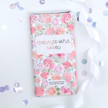 Penblwydd Hapus Mamgu - Floral Milk Chocolate Bar