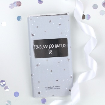 Penblwydd Hapus 18 - Starry Milk Chocolate Bar
