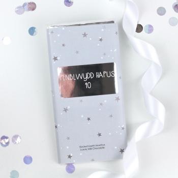 Penblwydd Hapus 40 - Starry Milk Chocolate Bar