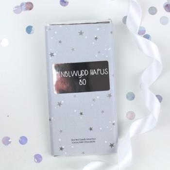 Penblwydd Hapus 80 - Starry Milk Chocolate Bar
