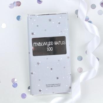 Penblwydd Hapus 100 - Starry Milk Chocolate Bar