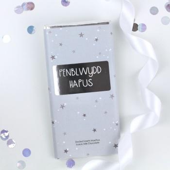 Penblwydd Hapus - Starry Milk Chocolate Bar