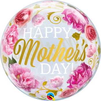 Happy Mother's Day Bubble Balloon - Flowers