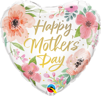 Mother's Day - Floral Heart - Foil Balloon