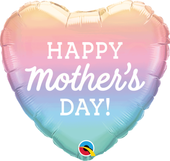 Mother's Day - Ombre Heart - Foil Balloon