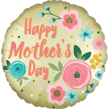 Mother's Day - Floral - Foil Balloon