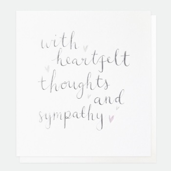 Heartfelt Thoughts and Sympathy - Card