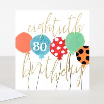 Happy 80th Birthday - Card
