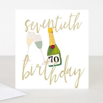 Happy 70th Birthday - Card