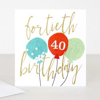 Happy 40th Birthday - Card