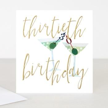Happy 30th Birthday - Card