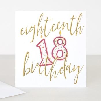 Happy 18th Birthday - Card