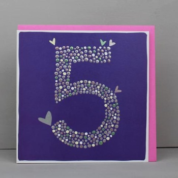 Heart 5 - Card