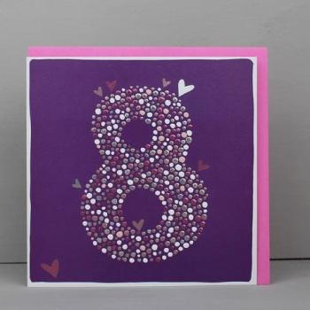Heart 8 - Card