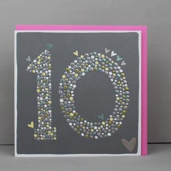 Heart 10 - Card