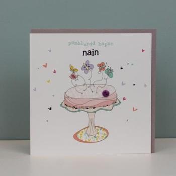 Penblwydd Hapus  Nain - Card