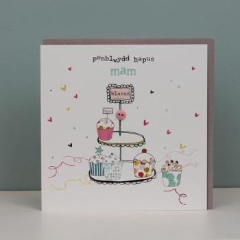 Penblwydd Hapus  Mam - Card