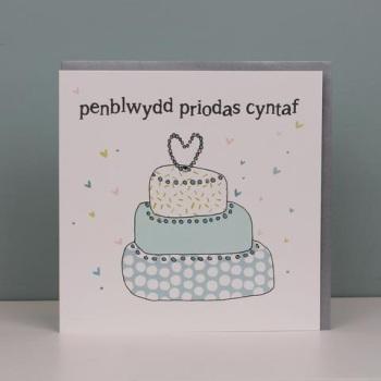 Penblwydd Priodas Cyntaf - Card