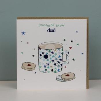 Penblwydd Hapus  Dad - Card