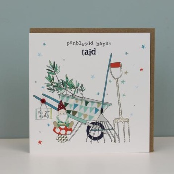 Penblwydd Hapus  Taid - Card