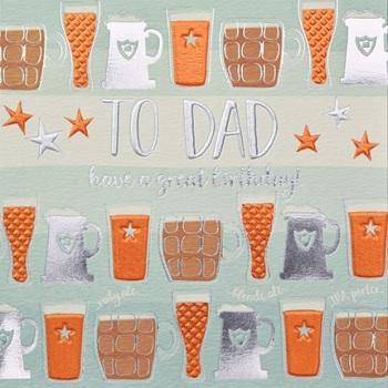 Dad Beer Birthday- Card