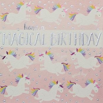 Magical Birthday Unicorn - Card