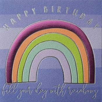 Happy Birthday Rainbow - Card