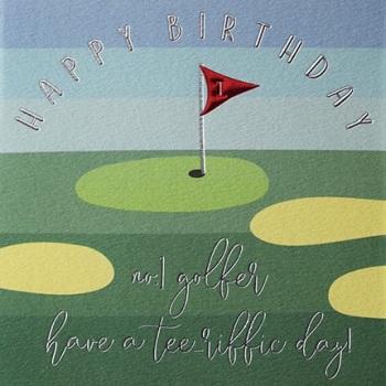 Happy Birthday Golf - Card