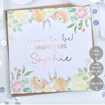 Personalised - Yellow Floral - Card