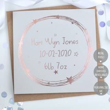 Personalised - Starry Wreath - Card