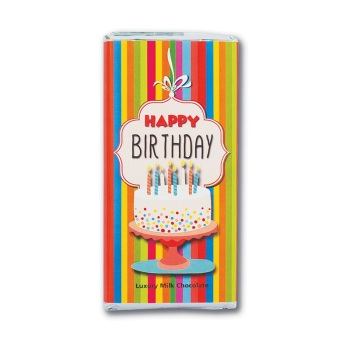 Happy Birthday - Milk Chocolate Bar