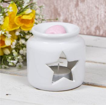 White Open Star - Wax/Oil Burner