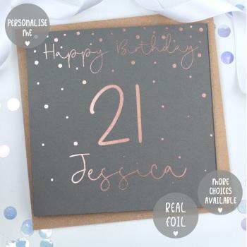Personalised - Happy Birthday Confetti - Card