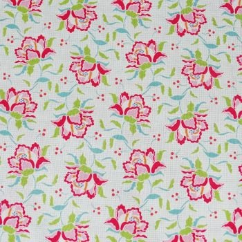 Tilda Circus Collection - Clown Flower Linen - Fat Quarter