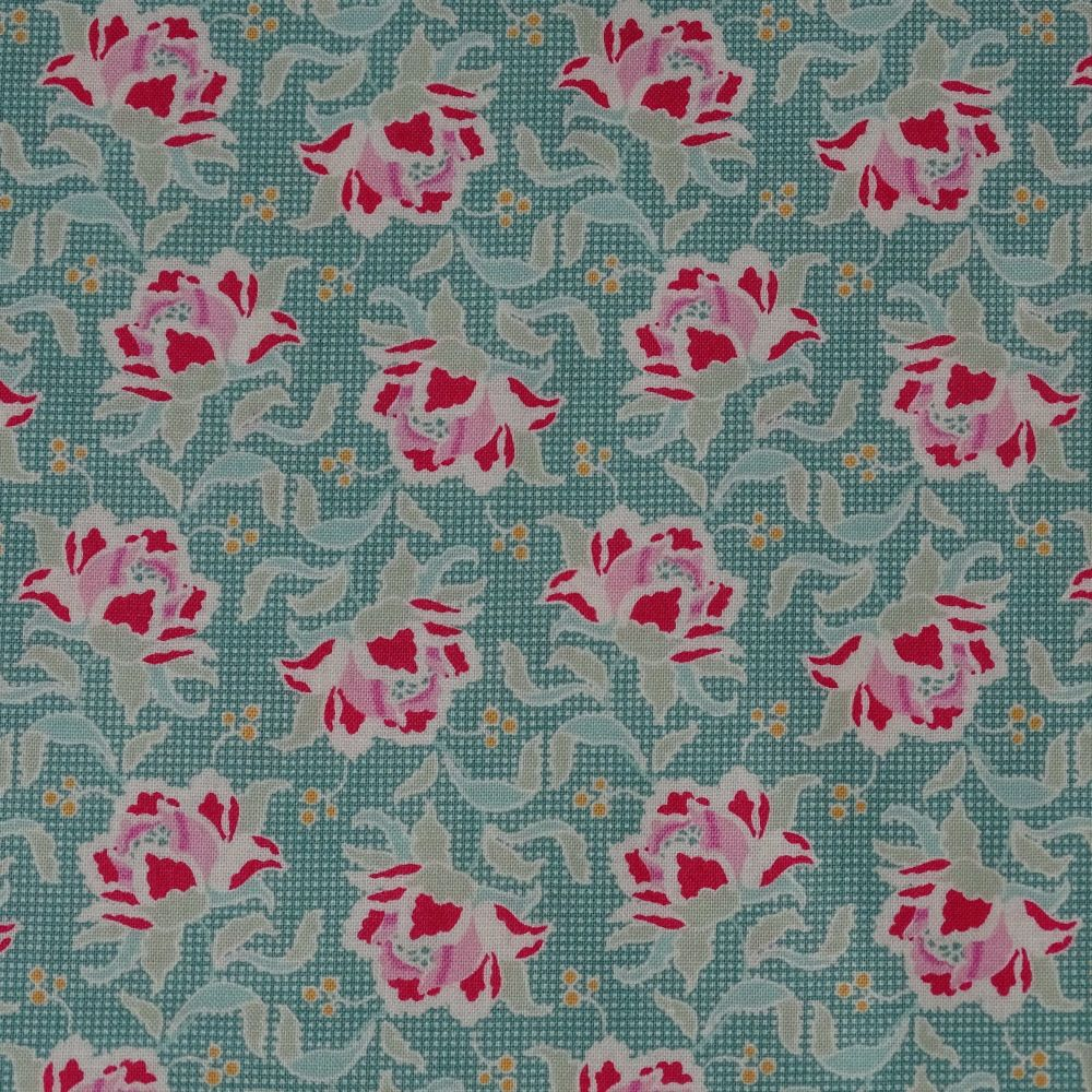 Tilda Circus Collection - Clown Flower Teal