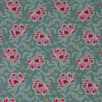 Tilda Circus Collection - Clown Flower Teal - Per Half Metre