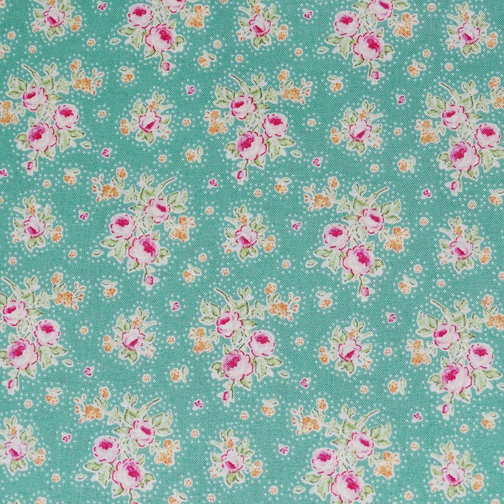 1 x Fat Qtr Clown Flower Teal 100/% Cotton Tilda Quilt Fabric Sewing//Quilting