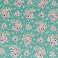 Tilda Circus Collection - First Kiss Teal - Per Half Metre