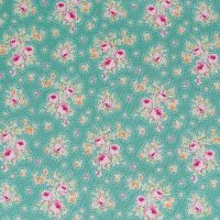 Tilda Circus Collection - First Kiss Teal - Per Fat Quarter