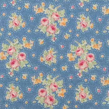 Tilda Circus Collection - First Kiss Blue - Fat Quarter