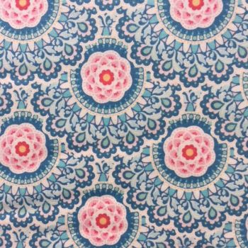 Tilda Harvest Collection - Cabbage Flower Blue - Per Fat Quarter