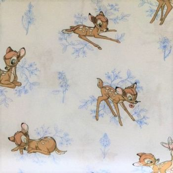 Disney Bambi Toile in Marina 100% Cotton  - Half Metre