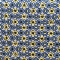 Fabric Freedom Scandi Flora ~ Circle Grey per Half Metre