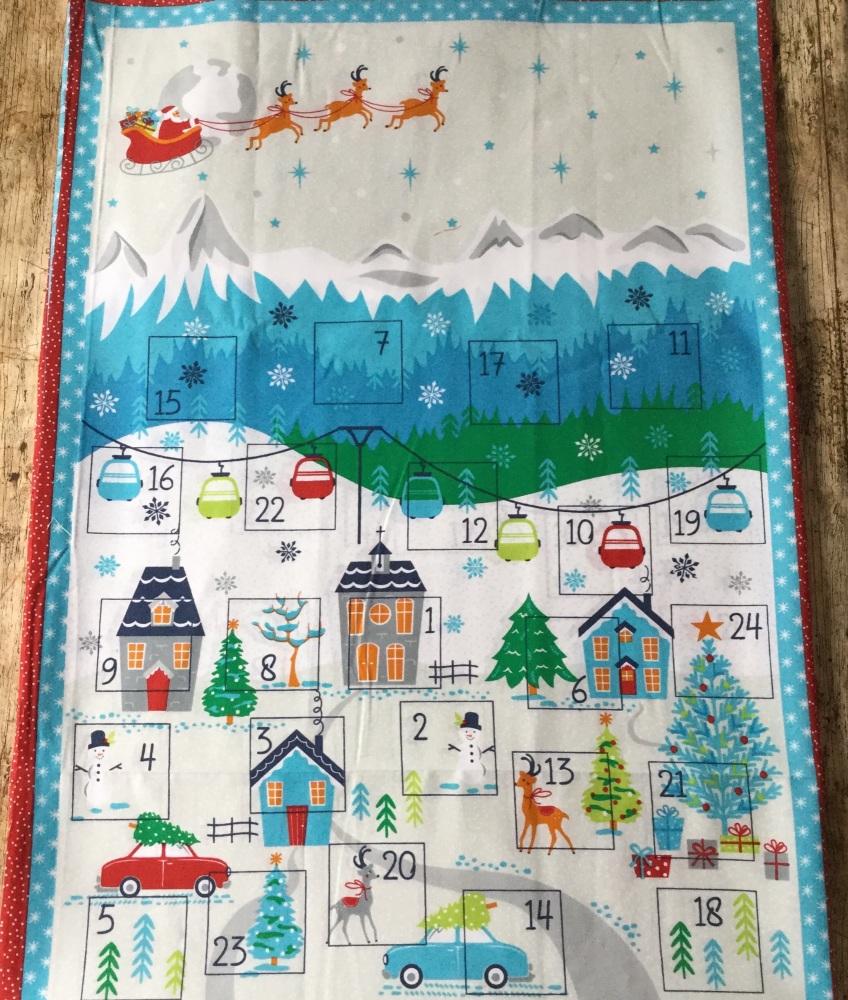 Christmas Advent Panel - Christmas Village