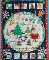 Christmas advent panel - Fun in the Snow  by Debbie Shore