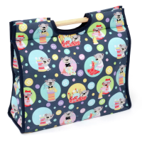 Sewing Bears Craft Bag with Wooden Handles