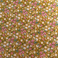 Tilda Apple Butter Bonnie Mustard/Yellow - Per Half Metre