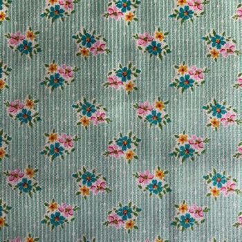 Tilda Apple Butter Nancy Teal - Per half metre