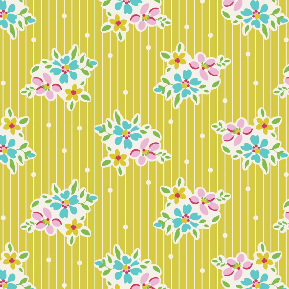 Tilda Apple Butter Nancy Yellow - Per Half Metre